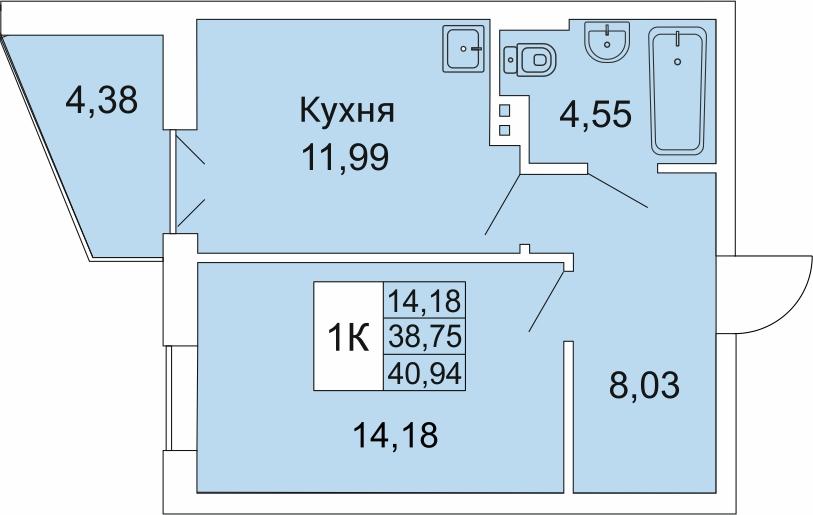 Гоголя, 205/2, 1-к квартира