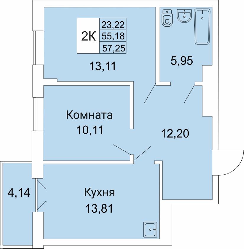 Гоголя, 205/2, 2-к квартира
